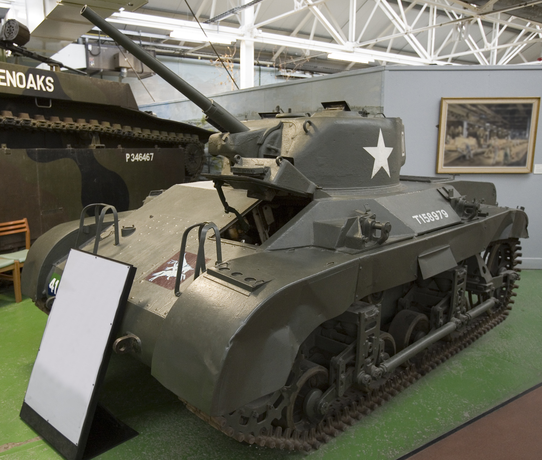 M22_Locust_light_tank_at_Bovington